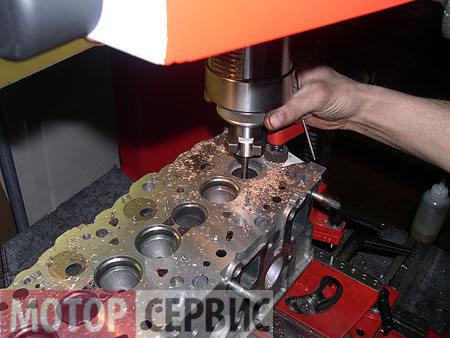 Обработка седел головки блока цилиндров Volkswagen
